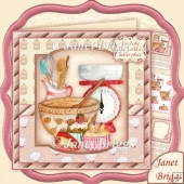 YOU BAKE THE WORLD A BETTER PLACE 7.5 Decoupage & Insert Kit