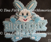 Birthday Boy Rabbit Card, SVG,MTC,SCAL,CAMEO,CRICUT