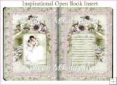 Inspirational Open Book Card Insert/Topper