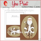 Camouflage Santa Christmas Full Card & Card Front