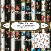 Viking Warriors - Set One - Ten Sheets Of 12 x 12 Backing Papers