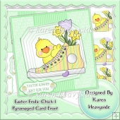 Easter Frolic Chick 1 Pyramaged Card Front