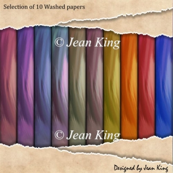 Selection of Selection of 10 Washed papers