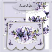 Purple lily landscape card set