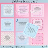 Childrens Inserts 1 to 5