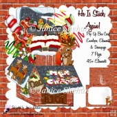 STUCK AGAIN SANTA CHRISTMAS 3D POP UP BOX CARD KIT