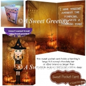 Pumpkin Girl Halloween Sweet Pocket Card