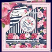Flowers & Stripes Time Pocket Card