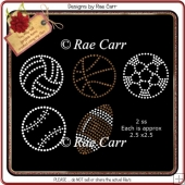 RS810 Sports Rhinestone Template