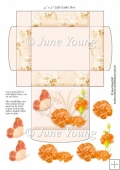 Gift/Cake Box - Orange Carnations