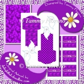 Halloween Treat Favor Kit - Purple