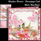 Meadow Flowers - Decoupage Card