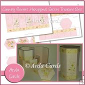 Country Flowers Hexagonal Secret Treasure Box