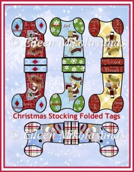 Christmas Stocking Folded Gift Tags