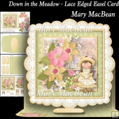 Down in the Meadow - Lace Edged Easel Card