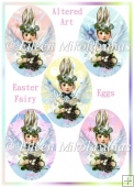 Altered Art Easter Fairy Diecut Eggs for Tags, Labels, Cards