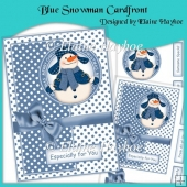 Blue Snowman Cardfront Kit