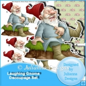 Laughing Gnome Decoupage Set