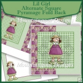 Lil Girl Alternate Square Pyramage Fold Back Set