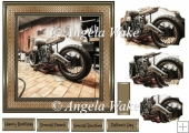 Motor cycle in the garage 7x7