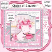 FABULOUS UNICORN 7.5 Decoupage & Insert Card Kit