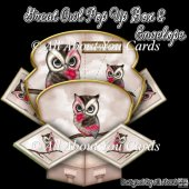 Great Owl Pop Up Box Card & Envelope