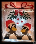 christmas Penguins Loving couple