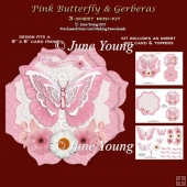 Pink Butterfly & Gerberas - 3-Sheet Mini-Kit