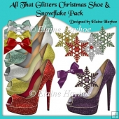 All That Glitters Christmas Shoe and Snowflake Pack