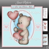 Valentine Bear Mini Kit. Birthday or Valentine with Ages