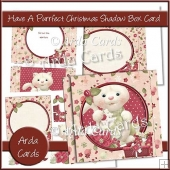 Have A Purrfect Christmas Shadow Box Card