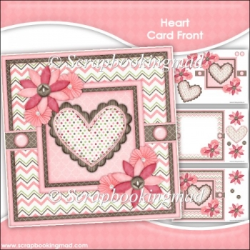 Heart Card Front & Insert Panel