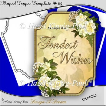 Shaped Topper Template #24