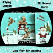 Flying Lesson 3D Reveal Card
