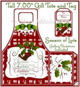 Season of Love Christmas Tall Handled Gift Tote and Tag Set