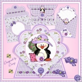 Happy Penguin Shopper - Spring Fold Card & Pillow Box Kit