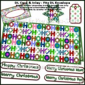 DL Card-Christmas - HoHoHo