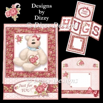 Hugs Twisted Panel Pop Out Card