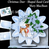 Christmas Deer - Shaped Easel Card