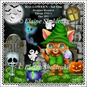 Halloween Set One Designers Resource CU - PU - PNG Clipart