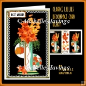 Clarice Lillies decoupage Card Design