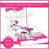 Valentine's Polar Bear Mini Pizza Box