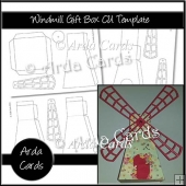 Windmill Gift Box CU Template