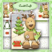 Deer and tree shaped card set