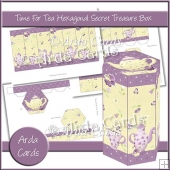 Time For Tea Hexagonal Secret Treasure Box