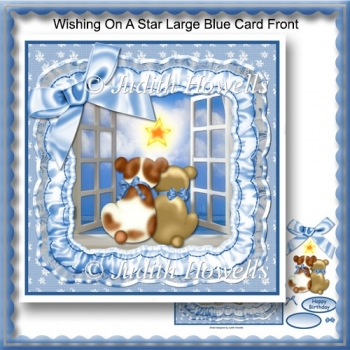 Wishing On A Star Large Blue Card Front