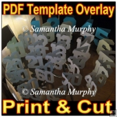 Set Of Card Numbers - Template Overlay PDF Sheet