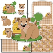 Honey Bear 02 Decoupage Set