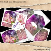 Ooh Tea & Cake 3d Easel Card Kit