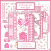Babygirl's 1st Birthday Word Book